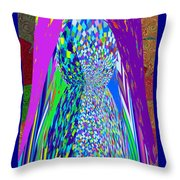 Symbolic Stone Male Linga Installation Graphic Digital Artist Navinjoshi Philosophy  Shivalinga Shiv Throw Pillow