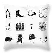 Symbols Good Luck Throw Pillow