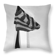 Symbols In Black And White Throw Pillow