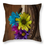 Symbols Of A Cowgirl's Love Throw Pillow
