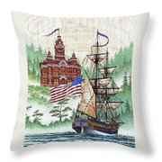 Symbols Of Our Heritage Throw Pillow by James Williamson
