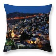 Symi Island Throw Pillow