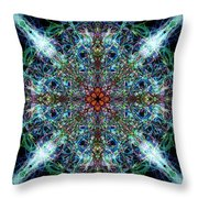 Symmetrical Silk Strands Throw Pillow