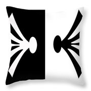 Symmetry In Black And White Digital Painting Throw Pillow