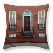 Symmetry In Brick Throw Pillow
