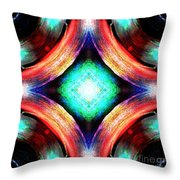 Symmetry Of Colors Throw Pillow