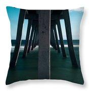 Symmetry Under The Pier  Throw Pillow