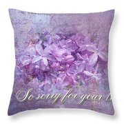 Sympathy Greeting Card - Lilacs Throw Pillow