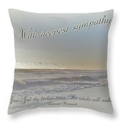 Sympathy Greeting Card - Ocean After Storm Throw Pillow
