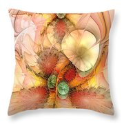 Syncopated Summer Passion Throw Pillow