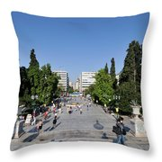 Syntagma Square In Athens Throw Pillow