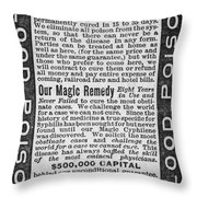 Syphilis Cure, 1890s Throw Pillow