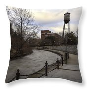 Syracuse Creekwalk Throw Pillow