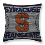 Syracuse Orangemen Throw Pillow