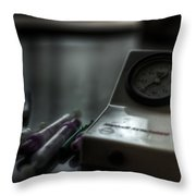 Syringe And Gauge   Throw Pillow