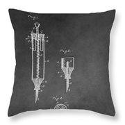 Syringe Patent Throw Pillow