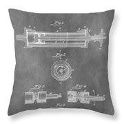 Syringe Patent Design Throw Pillow