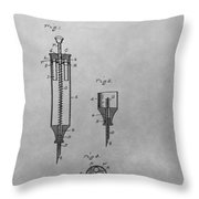 Syringe Patent Drawing Throw Pillow