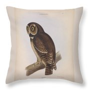 Syrnium Owl Throw Pillow