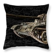 T-54 Soviet Tank Bk-bg Throw Pillow