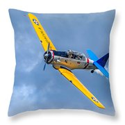 T-6 Texan Flying Throw Pillow