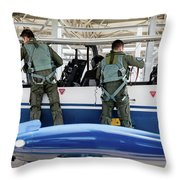 T-6 Texan Pilots Of The Hellenic Air Throw Pillow