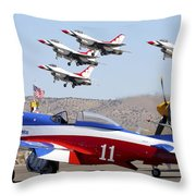 Miss America And The T-birds Throw Pillow