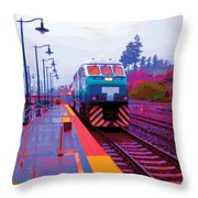 T Is For Train Throw Pillow