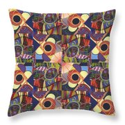 T J O D Tile Variations 10 Throw Pillow