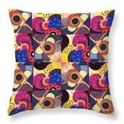 T J O D Tile Variations 14 Throw Pillow
