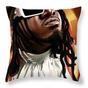 T-pain Artwork Throw Pillow