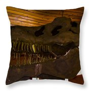 T Rex Head Throw Pillow