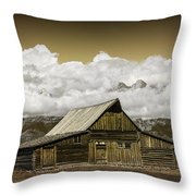 T.a. Moulton Barn In The Grand Tetons Throw Pillow