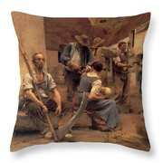 Ta Paye Des Moissonneurs Throw Pillow