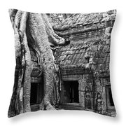 Ta Prohm Roots And Stone 01 Throw Pillow