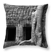 Ta Prohm Roots And Stone 02 Throw Pillow