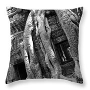 Ta Prohm Roots And Stone 03 Throw Pillow