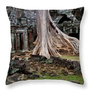 Ta Prohm Temple Ruins Throw Pillow