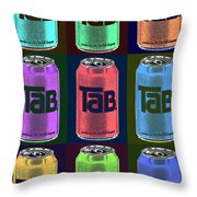 Tab Ode To Andy Warhol Black Throw Pillow