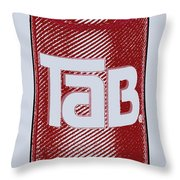 Tab Ode To Andy Warhol Throw Pillow