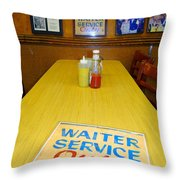 Table For 6 Throw Pillow