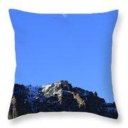 Table Mountain And Moon   #0562 Throw Pillow