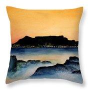 Table Mountain Throw Pillow