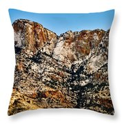 Table Mountain In Winter 42 Throw Pillow