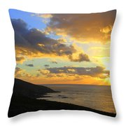 Table Mountain South Africa Sunset Throw Pillow