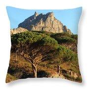 Table Mountain View Throw Pillow