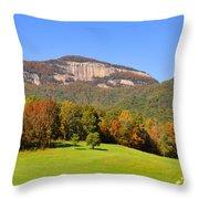 Table Rock In Autumn Throw Pillow