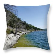 Table Rock Lake Shoreline Throw Pillow