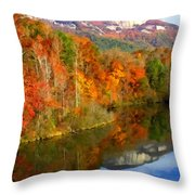Table Rock Mirrored Throw Pillow