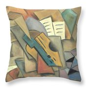 Table With Guitar Throw Pillow